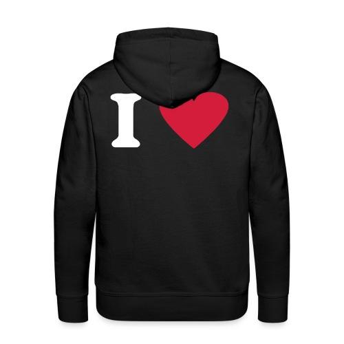 I Love - Männer Premium Hoodie