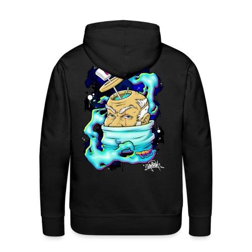 Spray Genius - Graffiti character design - Sweat-shirt à capuche Premium pour hommes
