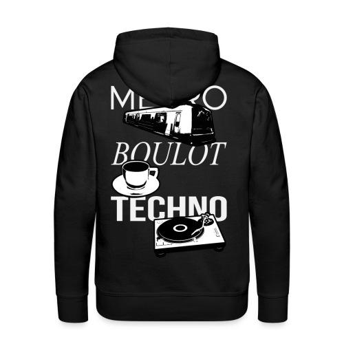 Metro Boulot TECHNO! - Sweat-shirt à capuche Premium pour hommes