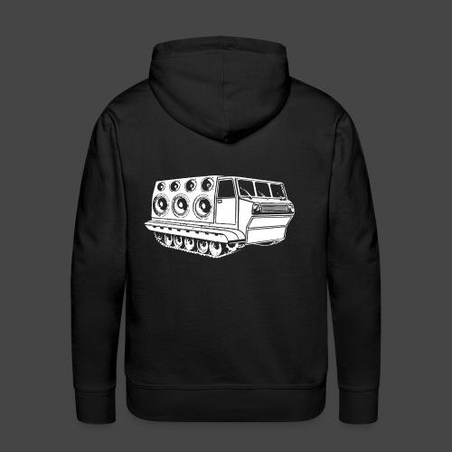 véhicule sonore spirale tekno 23 - Sweat-shirt à capuche Premium pour hommes
