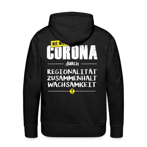 Covid-19 - NIE WIEDER Corona! - Männer Premium Hoodie