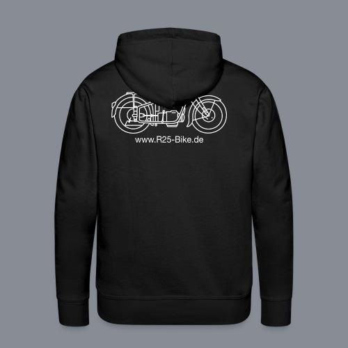 Motorrad_CS2_weiss + URL - Männer Premium Hoodie