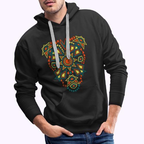 Tribal Sun Front - Sudadera con capucha premium para hombre