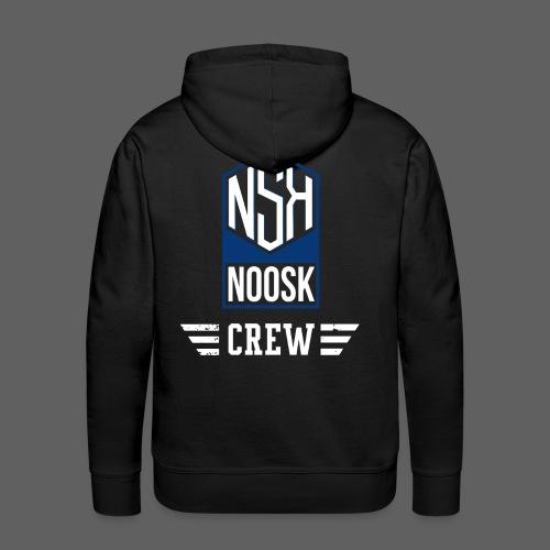 NOOSK CREW [BLEU] - Sweat-shirt à capuche Premium pour hommes