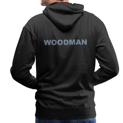 WOODMAN silver - Männer Premium Hoodie