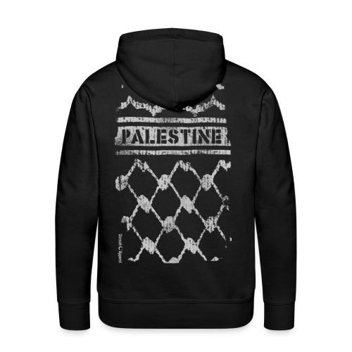 Palestine Keffiyeh white - Men's Premium Hoodie