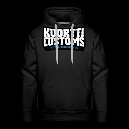 kuortti_customs_logo_main - Miesten premium-huppari
