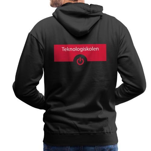 TeknologiskolenLogo - Herre Premium hættetrøje