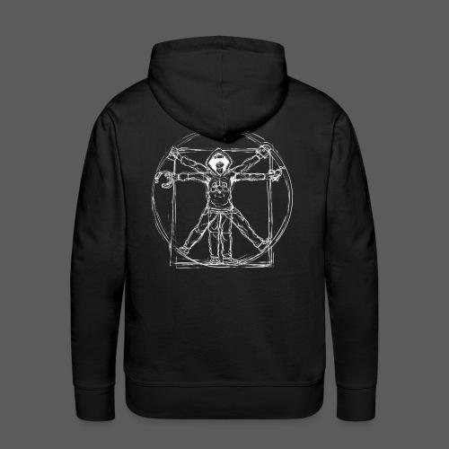 Vitruvian Gamer White Print - Männer Premium Hoodie