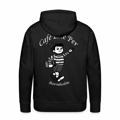 Cafe LillePer Logo BW - Herre Premium hættetrøje