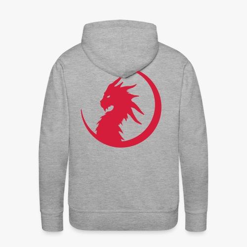 Dragon Moon Silhouette - Herre Premium hættetrøje