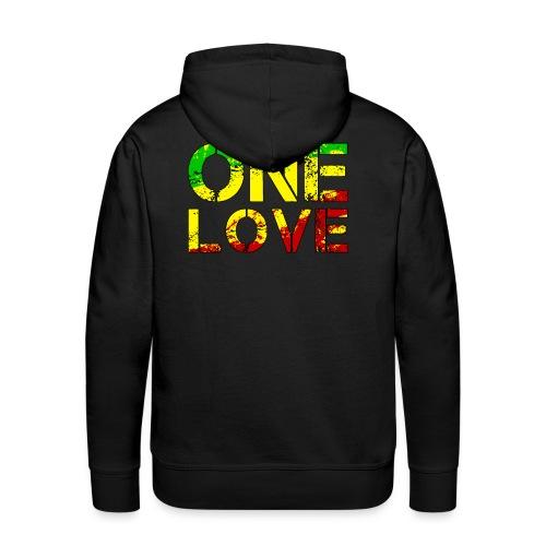 One Love - Reggea Musik - Männer Premium Hoodie
