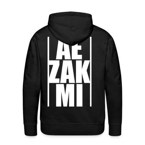 AEZAKMI-white, back - Bluza męska Premium z kapturem
