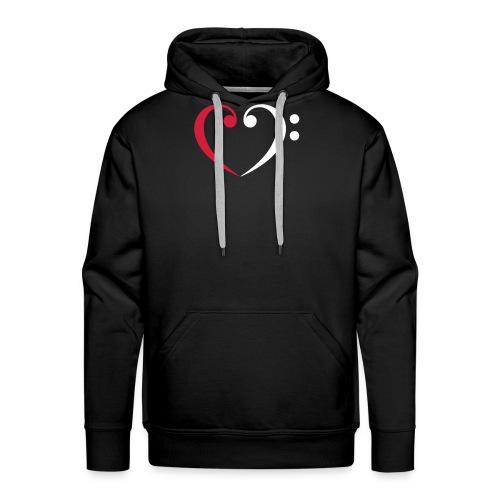 wr lb heart - Männer Premium Hoodie