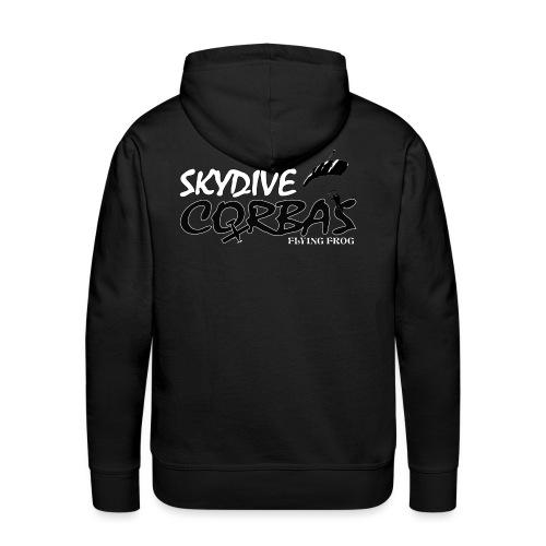 SkyDive Corbas grand - Sweat-shirt à capuche Premium pour hommes