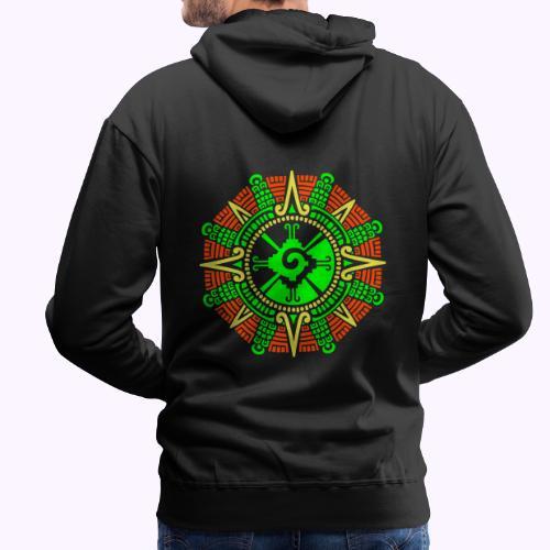 Mayan Moonstone Hunab Ku - Sudadera con capucha premium para hombre