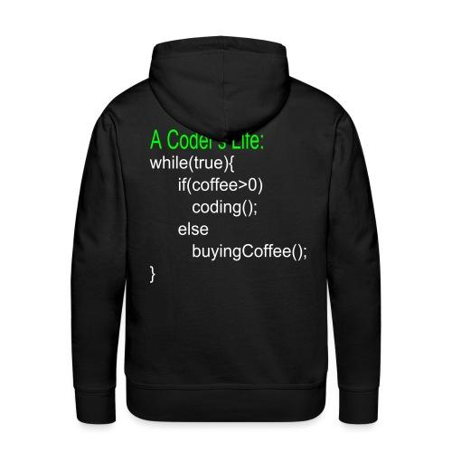 Programmierer Nerd Kaffee Programmieren Spruch - Männer Premium Hoodie