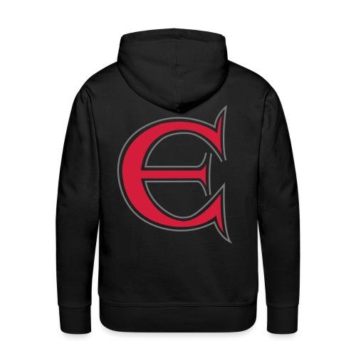 Det store E - Herre Premium hættetrøje