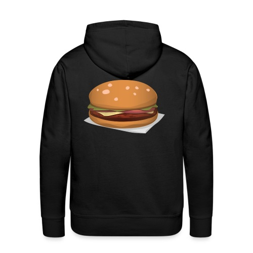 hamburger-576419 - Felpa con cappuccio premium da uomo