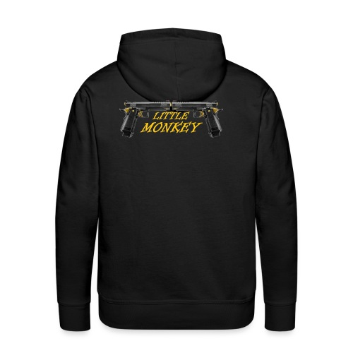 Little Monkey Transparant gif - Men's Premium Hoodie