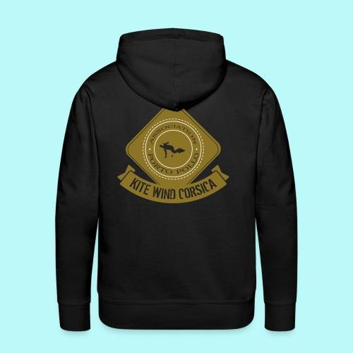 logo marron vintage - Sweat-shirt à capuche Premium pour hommes