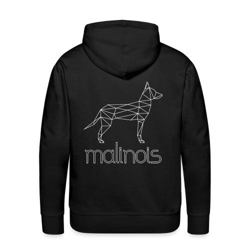 Malinois Schäferhund Geometrisch - weiß - Männer Premium Hoodie