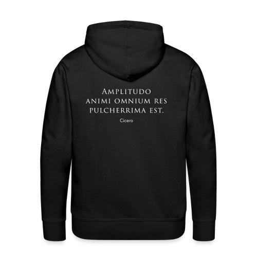"""Cicero citazione - """"Amplitudo animi"""" - Felpa con cappuccio premium da uomo"""