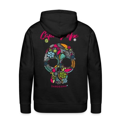 CdV FlowerSkull 1019 blk - Männer Premium Hoodie