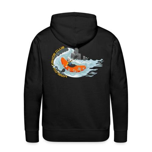 kayakillust2yellow - Men's Premium Hoodie