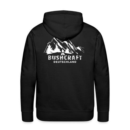 Bushcraft_1_white - Männer Premium Hoodie