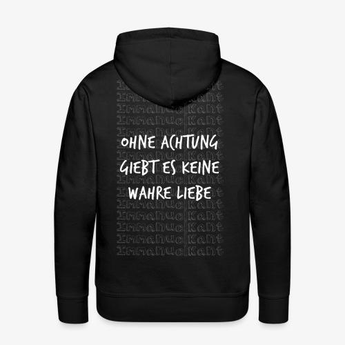 Liebe Immanuel Kant Zitat Spruch Geschenk Idee - Männer Premium Hoodie