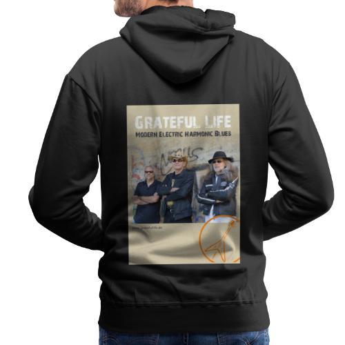 Grateful Life Poster - Männer Premium Hoodie