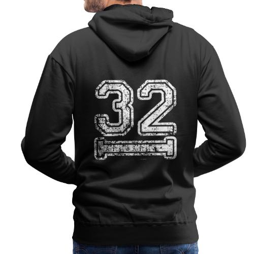 32 Baseball Logo - Männer Premium Hoodie