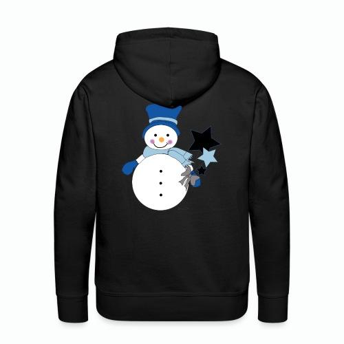 Snowtime-Blue - Männer Premium Hoodie
