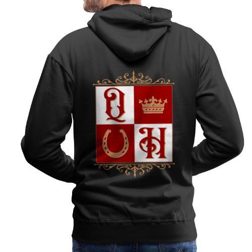Quater Horse Ornament Pferd Royal König Geschenk - Männer Premium Hoodie