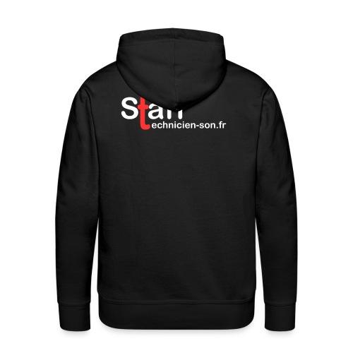 staff technicien blanc 3000px - Sweat-shirt à capuche Premium pour hommes