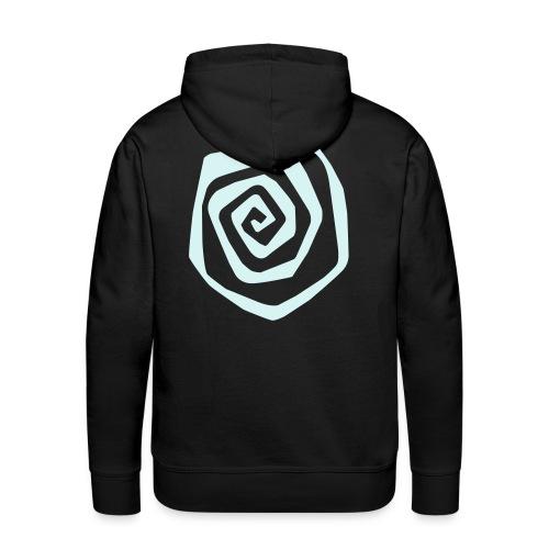 spirale - Sweat-shirt à capuche Premium pour hommes