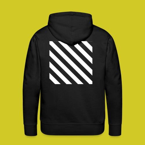 BLACK AND WHITE - Sudadera con capucha premium para hombre