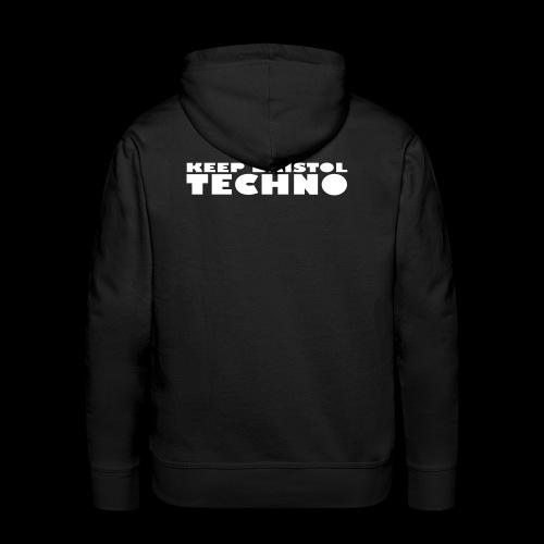 KEEP BRISTOL TECHNO LOGO 1 - Men's Premium Hoodie