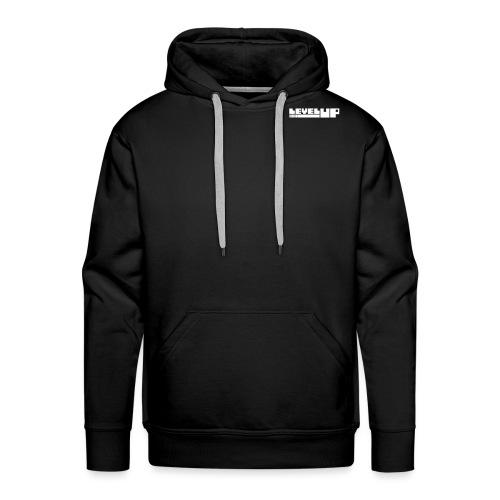 LevelUp Logo weiß - Männer Premium Hoodie