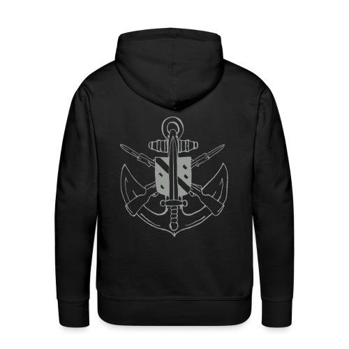 logogfm gris png - Sweat-shirt à capuche Premium pour hommes