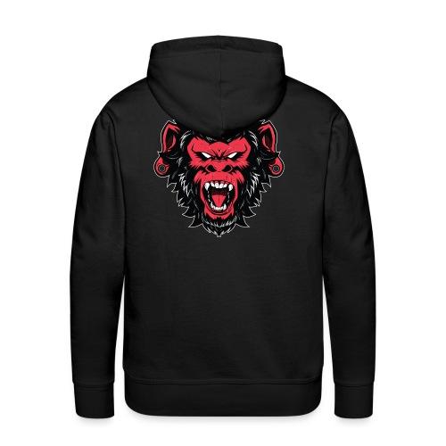 logo bearded monkeys - Sweat-shirt à capuche Premium pour hommes