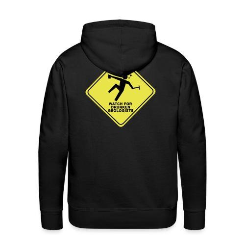 watch for drunken geologists english l - Sweat-shirt à capuche Premium pour hommes