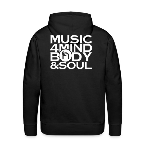 Music 4 Mind, Body & Soul White - Men's Premium Hoodie