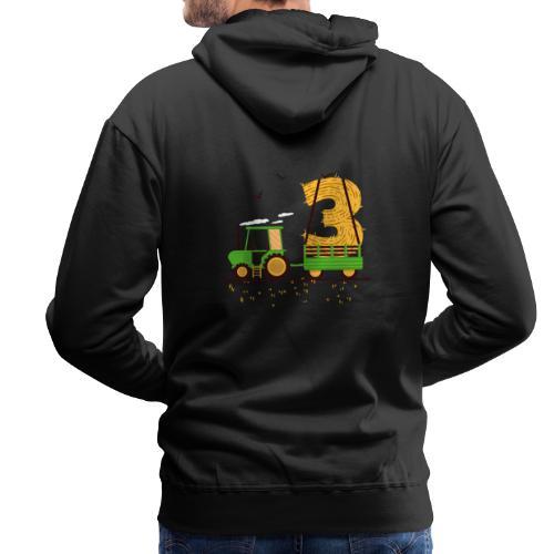 Traktor mit Anhänger 3. Geburtstag Geschenk Drei - Männer Premium Hoodie