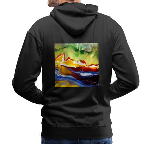 Volcanic Island - After First Cause - Men's Premium Hoodie
