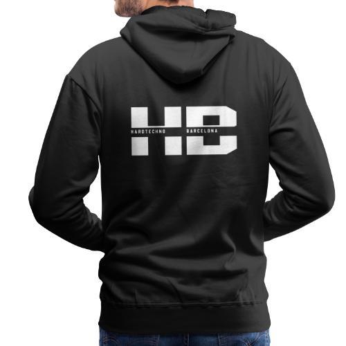 HB 2021BLANCO - Sudadera con capucha premium para hombre