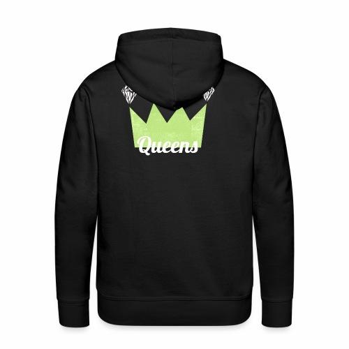 logo_queens_v4_vihr_valk - Miesten premium-huppari