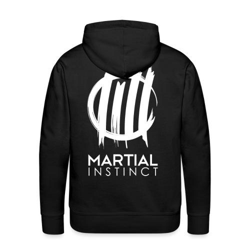 MARTIAL INSTINCT - White Logo (Rücken) - Männer Premium Hoodie