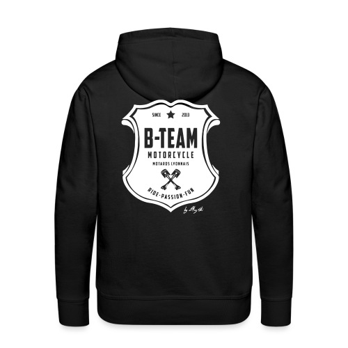 B team white - Sweat-shirt à capuche Premium pour hommes